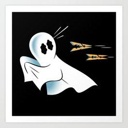 A Fearful Phantom (Black) Art Print