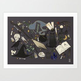 Witch's things Art Print