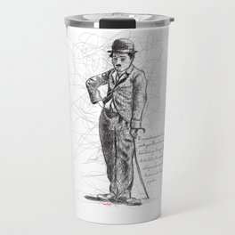 Chaplin in Lines Travel Mug