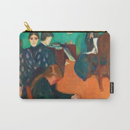 12,000pixel-500dpi - Edvard Munch - Death in the Sickroom - Digital Remastered Edition Carry-All Pouch