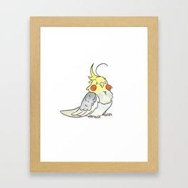 Cockatiel Buddy Framed Art Print