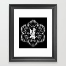 Snowy Owl Flake Framed Art Print