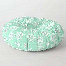 Ship Wheel (White & Mint Pattern) Floor Pillow