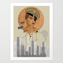 The Steam Captain  Art Print