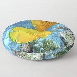 2 Tropical Fish Floor Pillow