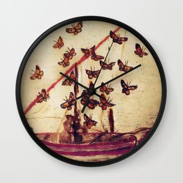 BUTTERFLY MIGRATION (antique) Wall Clock
