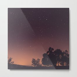 Sunset stars Metal Print