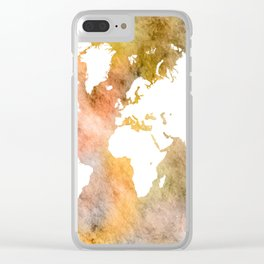 Design 63 World Map Clear iPhone Case