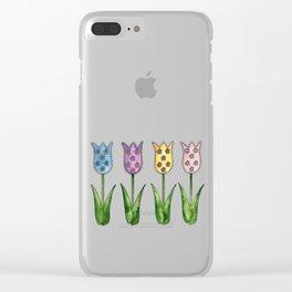 Tulip Row II Clear iPhone Case