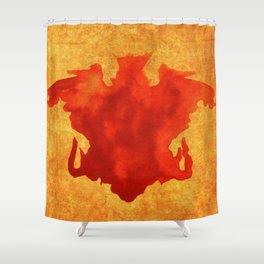 Footprint skull Shower Curtain