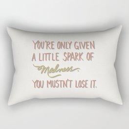 Spark of madness Rectangular Pillow