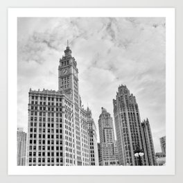 Chicago Iconic Wrigley Building Art Print
