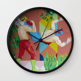 Huracanrana in the greenhouse Wall Clock