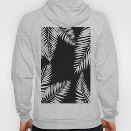 Watercolor tropical palm leaves black Hoody