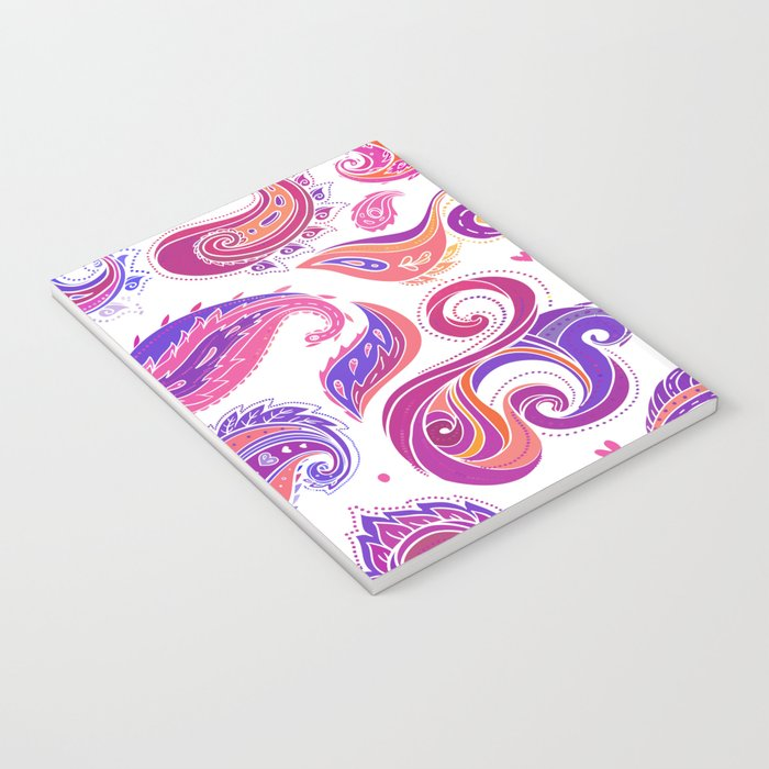 Indian Paisley Pattern 01 Notebook