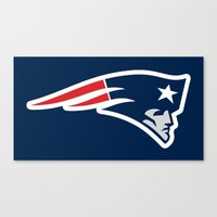 patriots Canvas Prints featuring Patriots by loveme