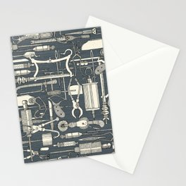 fiendish incisions metal Stationery Cards