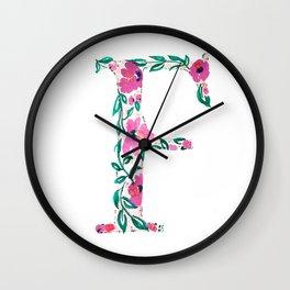 MONOGRAMS - F Wall Clock