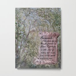 Savannah Scroll Metal Print