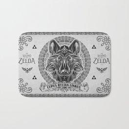 Legend of Zelda Twilight Wolf Link Line Art Bath Mat