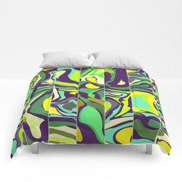 grenn and yellow Comforters