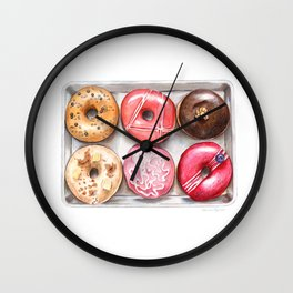 Glorious Glazed Donuts Wall Clock