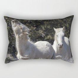 Happy Traveler with Mom and Pallaton Rectangular Pillow