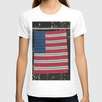american flag T-shirts featuring American Flag by Photaugraffiti