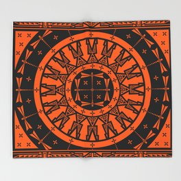 Ancestors (Orange) Throw Blanket