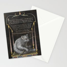 A Sloth from Mira Calligraphiae Monumenta or The Model Book of Calligraphy (1561-1596) by Georg Bocs Stationery Cards