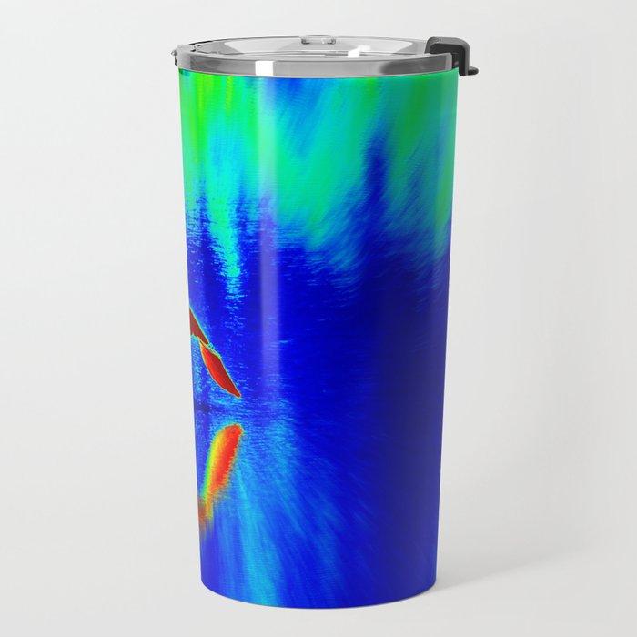 Egret Abstract Travel Mug