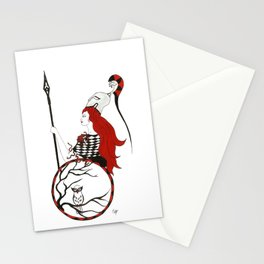 The Lady Athena, Goddess of Wisdom and War Stationery Cards
