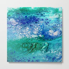 Colors of the Sea No.3 / acrylic pour art Metal Print