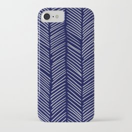 Indigo Herringbone iPhone Case