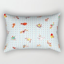 Cute cartoon finches pattern Rectangular Pillow