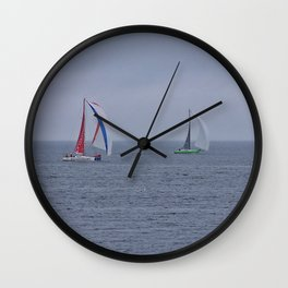 part 1 of 4 of Sailing Battle 42-56  - Transat Quebec St-Malo Wall Clock
