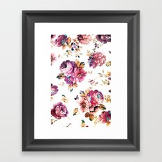 VINTAGE FLOWERS XXXIV - for iphone Framed Art Print