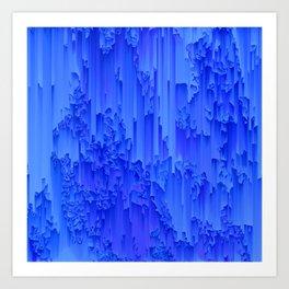 Melted, blue Art Print
