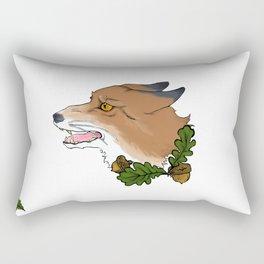 angry fox Rectangular Pillow