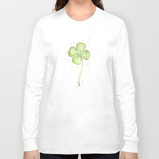 Clover Four Leaf Lucky Charm Green Clovers Long Sleeve T-shirt