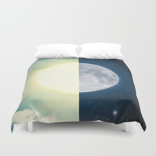 As each day ends... Duvet Cover