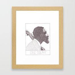 Eric Dolphy Jazz Portait Framed Art Print