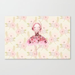 Isabella Bellarina Dancing on Flowers Canvas Print