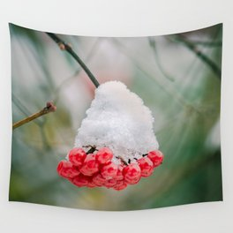 Frozen berries Wall Tapestry