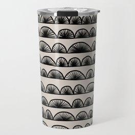 Abstract Shell Pattern Travel Mug
