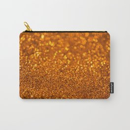Golden abstract background with bokeh defocused lights Carry-All Pouch