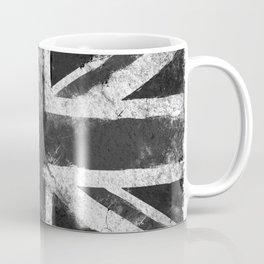 Black and white England Grunge flag Coffee Mug