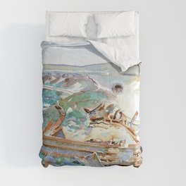 John Singer Sargent - A Wrecked Tank - Digital Remastered Edition Comforters