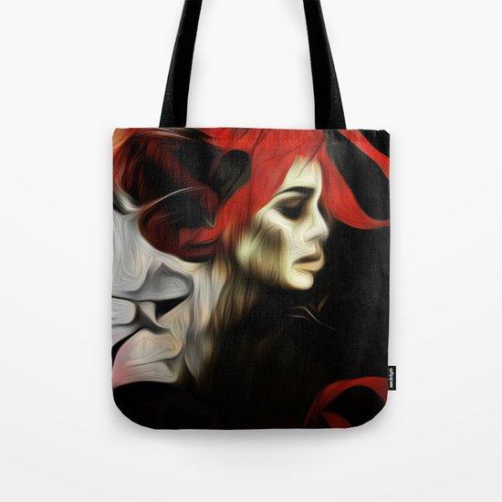 portrait of sadness Tote Bag