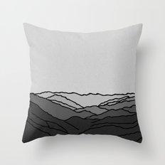 Mountains in Fog Throw Pillow